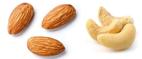 من الأكثر صحة الكاجو أم اللوز؟
