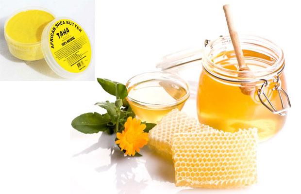 شمع العسل و زبدة الشيا لتنعييم وترطيب اليدين