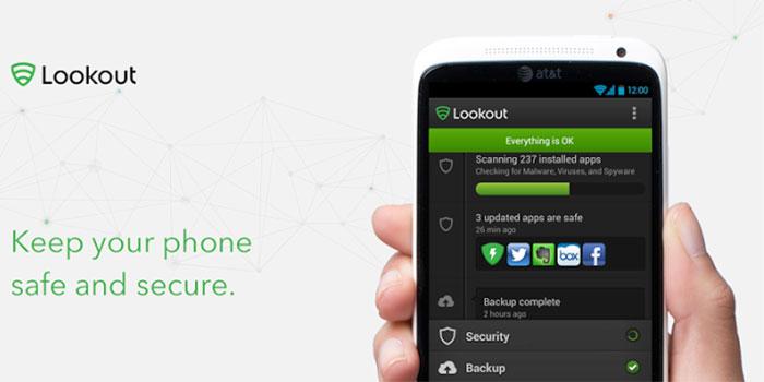 تطبيق Lookout for Android
