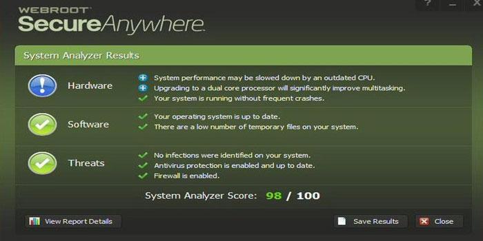 برنامج Webroot SecureAnywhere Mobile