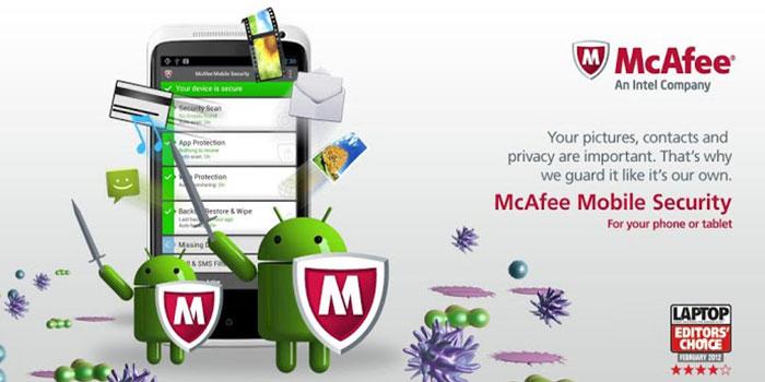 تطبيق McAfee Mobile Security