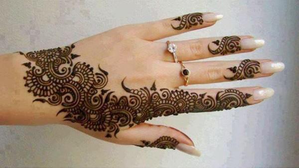 أجمل نقش لحنة يد العروس