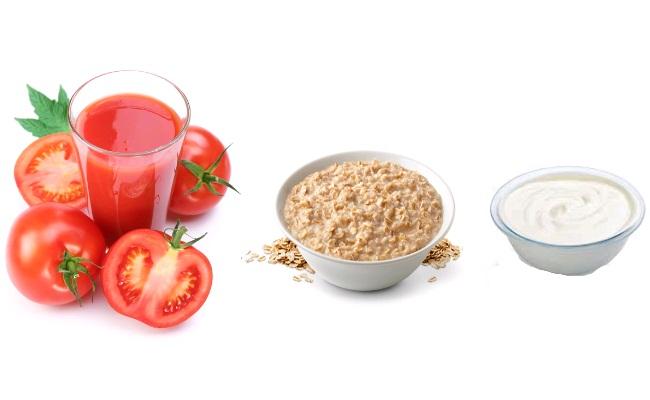 ماسك الطماطم، الشوفان و الزبادي لتبييض البشرة