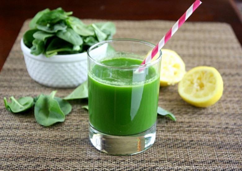 عصير السبانخ و التفاح لإنقاص الوزن