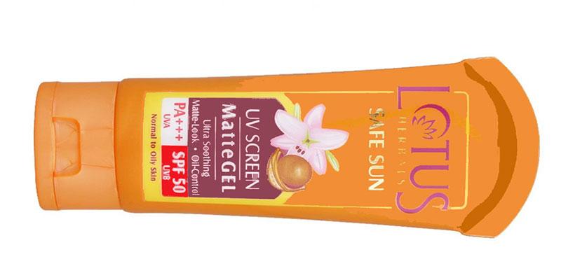 واقي الشمس لوتس للبشرة الدهنية Lotus Herbals Safe Sun UV Screen Matte Gel