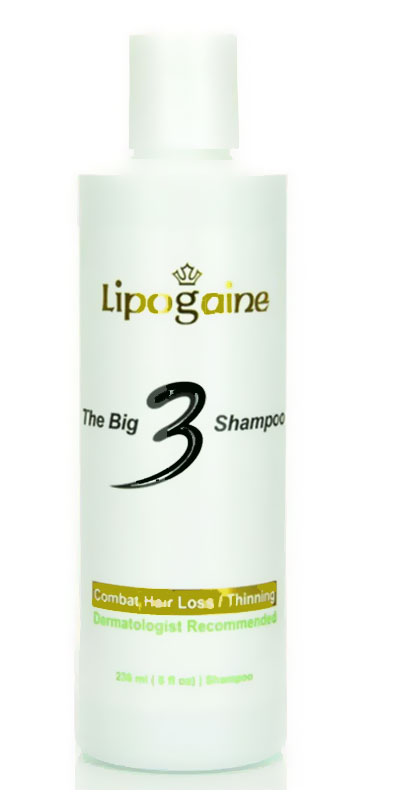 شامبو لمنع تساقط الشعر و فقدانه Lipogaine Big 3 Hair Loss Shampoo
